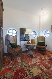 modern persian rugs home office eclectic with armoire hutch leather seat
