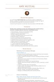 Marketing Communications Manager Resume Samples Visualcv Resume
