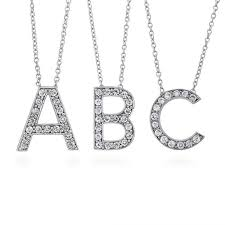 sterling silver cubic zirconia cz initial letter fashion pendant n635 berricle