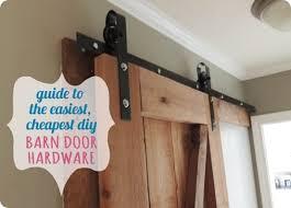diy barn door hardware with oil bronze look
