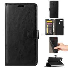 crazy horse texture wallet stand leather case for google pixel 3 black 1