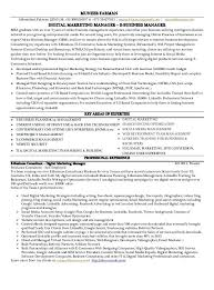 Digital Marketing Resume Sample Old Version Old Version Old Version