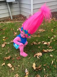 mom makes toddler s dream come true with diy trolls costume and the internet goes wild babble