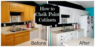 diy painting oak kitchen cabinets with white chalk paint before and after with double door refrigerator and ceramic kitchen backsplash and countertop for