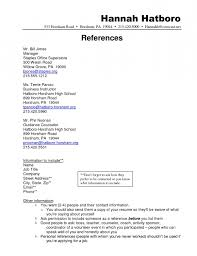 sample resume reference page reference sample resume