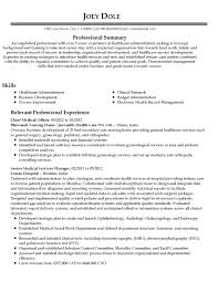 Healthcare Administration Sample Resume Essay Writting Format