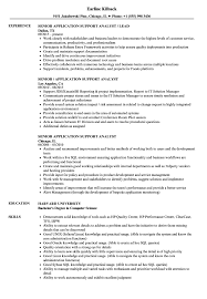 Sample Resume For Application Support Analyst Senior Application Support Analyst Resume Samples Velvet Jobs 2