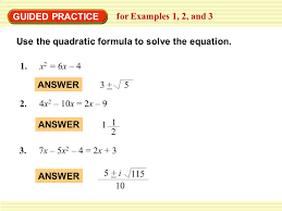 6 5 the quadratic formula and discriminant worksheet answers