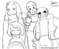 undertale character from toby fox by coloring pages printable and coloring book to print for free find more coloring pages for kids and s of