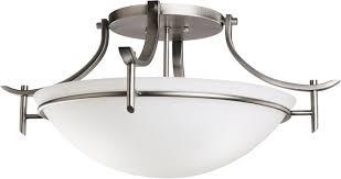 kichler 3606ap olympia antique pewter modern 3 light semi flush loading zoom