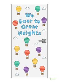 Hot Air Balloon Classroom Door Display Teaching Resource – Teach ...