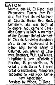 Obituary for Mamie EATON (Aged 87) - Newspapers.com