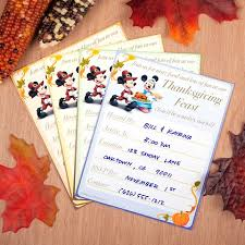 Thanksgiving Invites Mickey Minnie Thanksgiving Invitations Disney Family