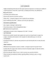 Resume For Lab Technician Enchanting Medical Laboratory Scientist Cv Template Clinical Resume Technician