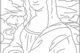 Impressive Idea Mona Lisa Coloring Page Pages Japanese Bridge Ideas