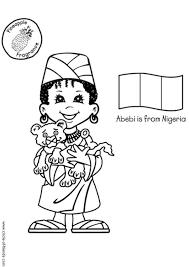 Kleurplaat Abebi Nigeria Afb 5611 Images