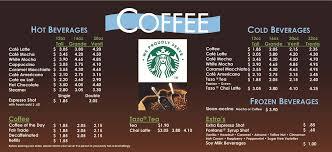 starbucks coffee menu. Exellent Menu Sociocultural Context Of Starbucks With Coffee Menu