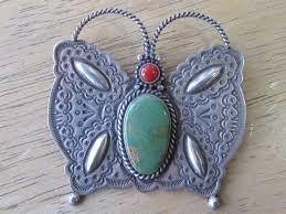 Navajo Silversmith Herman Smith Butterfly pendant/pin