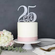 Personalized 25th Anniversary Cake Topper Custom Name Etsy