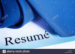 Resume With Tie Ready For Interview Blue Tone Stock Photo