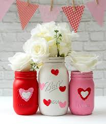Crafts With Mason Jars Valentine Day Mason Jar Craft Mason Jar Crafts Love