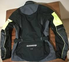 a photograph showing the back of the on board stone 4s touring jacket which has air