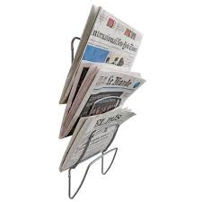 newspaper rack for office. Wall Mounted 5 Tier Newspaper Rack. Rack For Office
