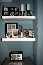 Wall Shelves Living Room Living Room Living Room Floating Shelves With Black Solid Wood