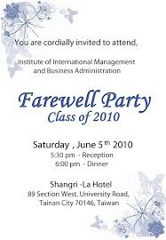 Farewell Party Invitation Wording For The Office Farewell Party