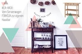 Ikea Hack Vom Förhöja Servierwagen Zur Silvester Hausbar In