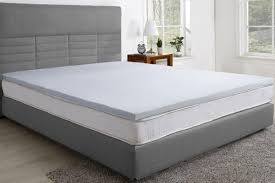 memory foam bed topper. Trafalgar Gel Infused Memory Foam Mattress Topper With Bamboo Cover (Queen) Bed