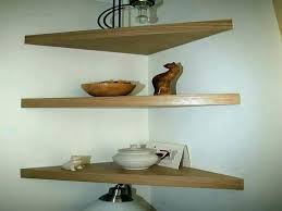 Oak Corner Floating Shelves Adorable Corner Floating Shelves Shelf Wall With Drawer Kneaderco