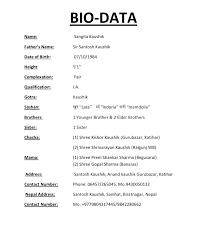 Biodata Resumes Biodata Resume Sample Download Of For Students Undergraduate Com