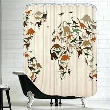 cool shower curtains for guys lovely polyester dinosaur map 2 curtain by wayfair uk