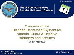 Blended Retirement System For National Guard Reserve Ppt