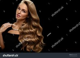 hair beauty and makeup beautiful fashion model with perfect blonde hair color and gorgeous