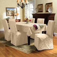 ... Awesome Decorating Interior Ideas With Slip Covers For Dining Chairs  Design : Artistic Decorating Interior Ideas ...