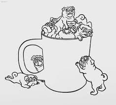 pug puppy coloring pages pug coloring pages kids