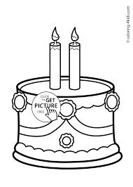 Small Picture Cake Birthday Party Coloring Pages for 2 years coloring pages