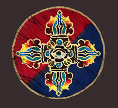 Grateful Tibetan Thunderbolt – Four Direction Batik