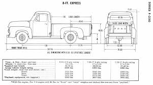 Restore Your Ford - 1953-1956 Ford Truck Dimensions and Specifications