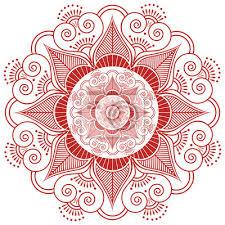 Fototapeta Asijská Kultura Inspiroval Svatební Make Up Mandala Tetování
