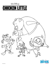 Small Picture Chicken Little Coloring Pages Chicken Little Coloring Pages 12123