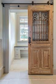 wrought iron scroll windowed office door