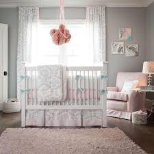 Pink and Gray Rosa Crib Bedding