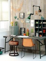 retro home office. lovely retro home office with colorful details industrial style h