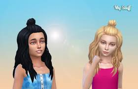 Half Bun Conversion | Sims 4, Half bun, Kids hairstyles