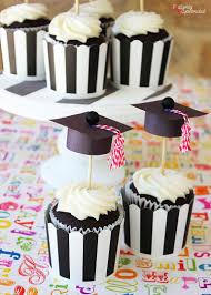 Graduation Cap Cupcake Toppers Graduation Diy