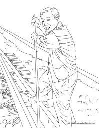 In this model, a train os a coloring page is passing through a train station, but it dont stops because it is a freight train. Train Station Jobs Coloring Pages Rail Switchman 214694 Steam Coloring Home