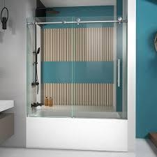 frameless sliding tub door